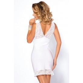 Белоснежная сорочка Colette с кружевным лифом