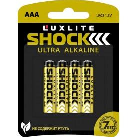 Батарейки Luxlite Shock (GOLD) типа ААА - 4 шт.