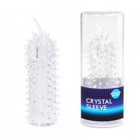 Закрытая рельефная насадка Crystal sleeve с усиками - 12 см.
